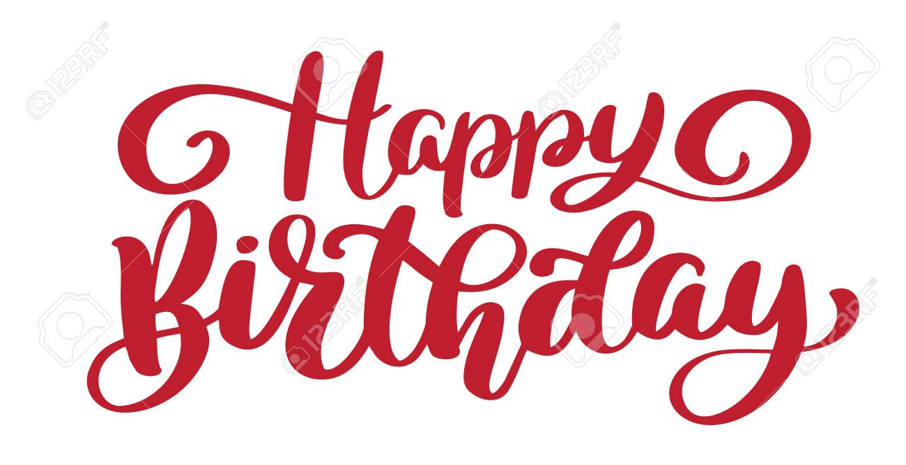 graphic about Happy Birthday Lettering Printables titled Joyful Birthday Hand drawn terms. Stylish hand lettering quotation,..