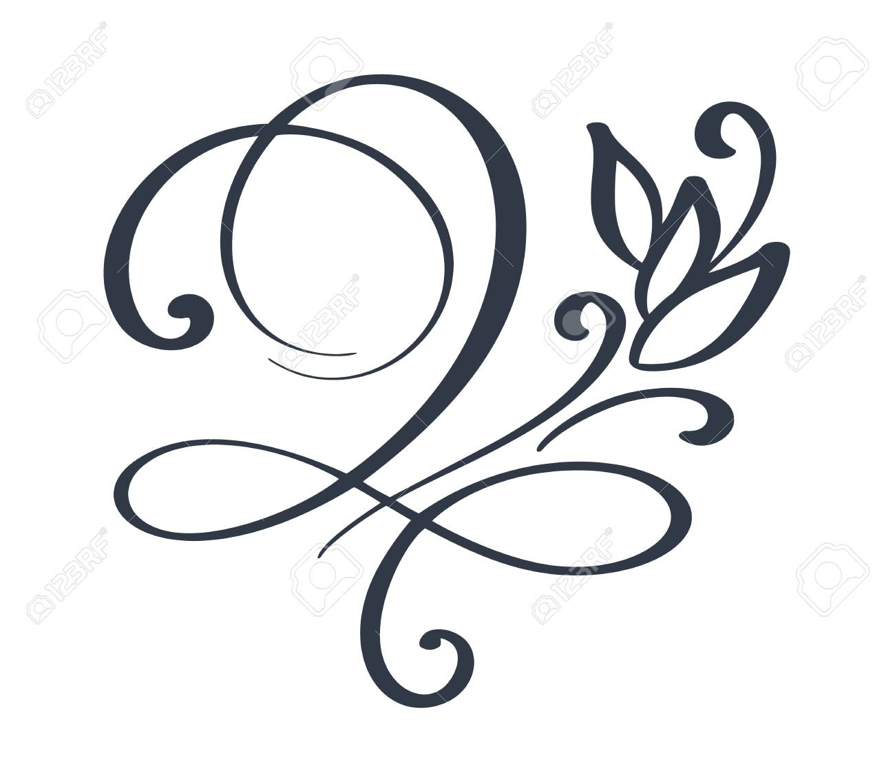 flourish swirl ornate decoration for pointed pen ink calligraphy rh 123rf com flourish vectors png corner flourish vectors