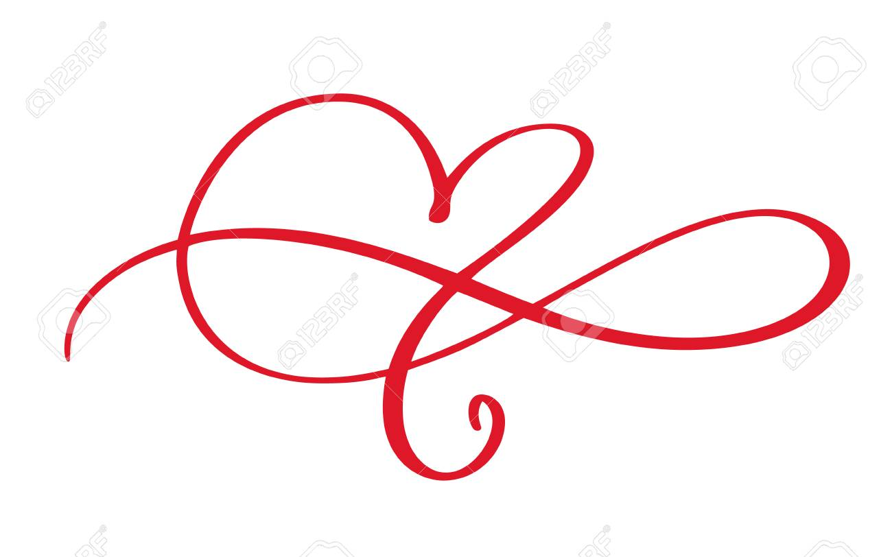 Heart Love Flourish Sign Forever Infinity Romantic Symbol Linked