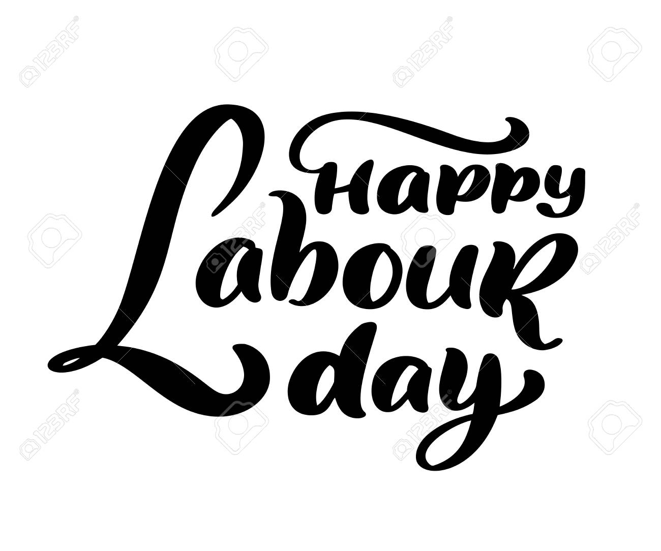 Happy 1st May Lettering Vector Background Labour Day Logo Concept