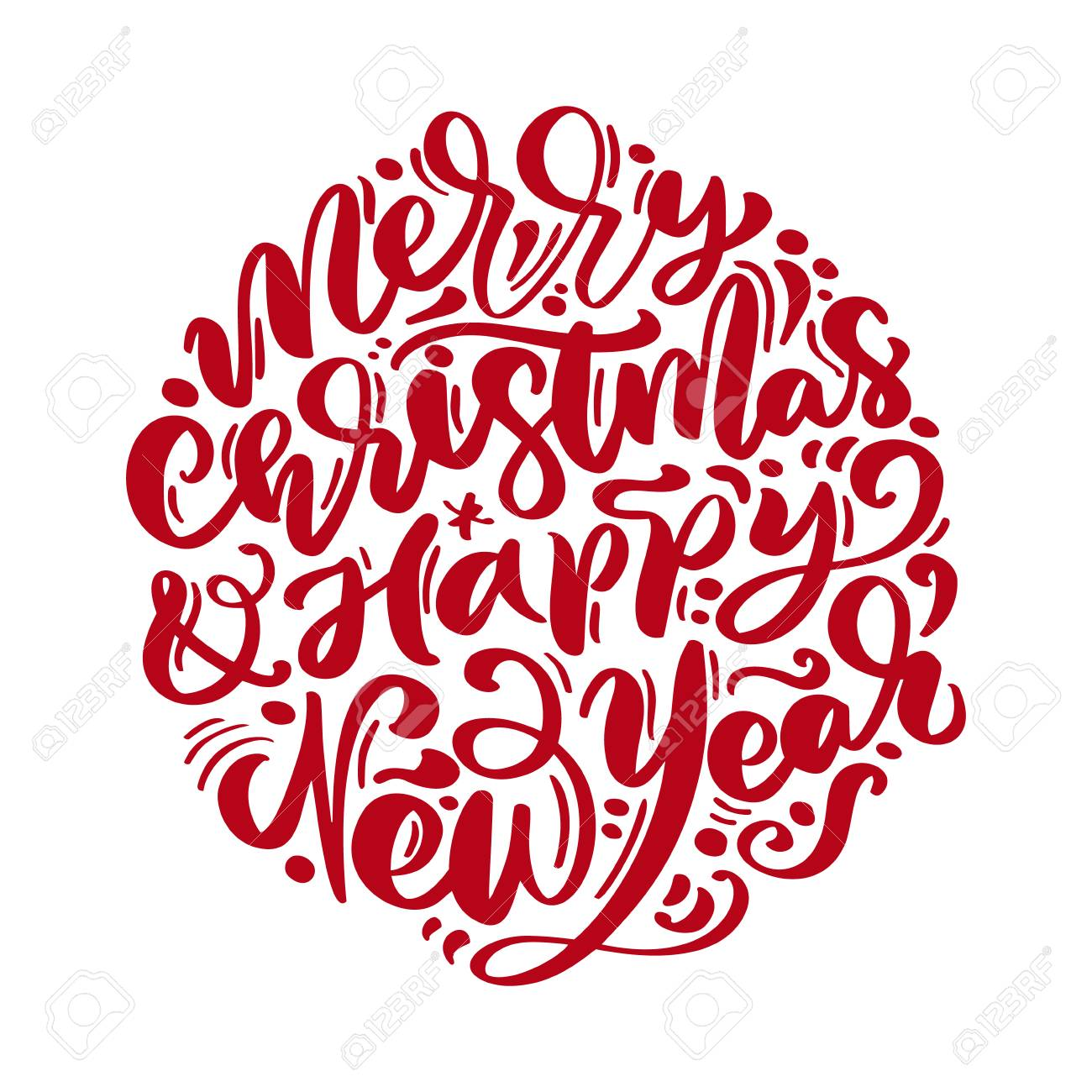 merry christmas and happy new year vector text calligraphic lettering royalty free cliparts vectors and stock illustration image 110490114 merry christmas and happy new year vector text calligraphic lettering