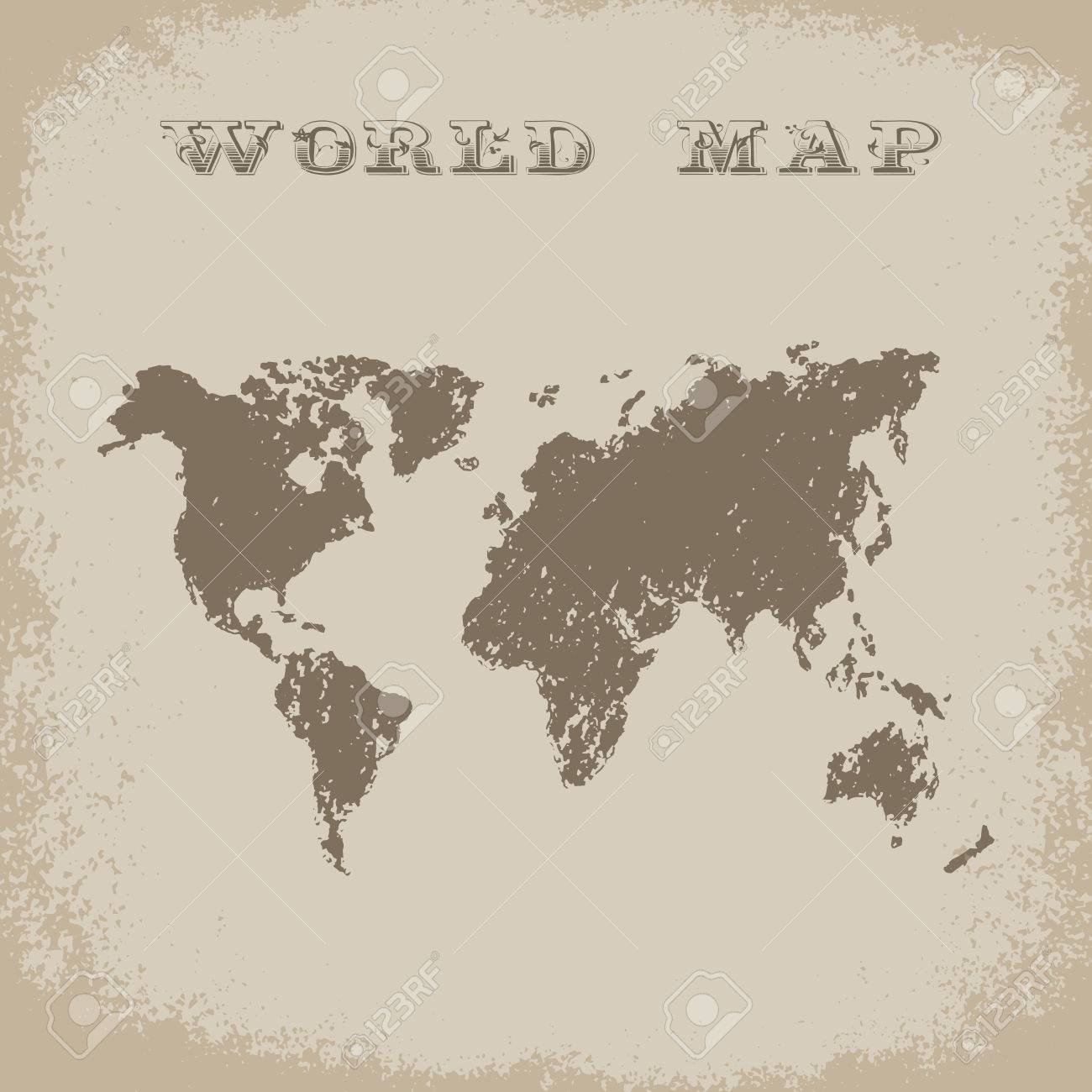 World map in grunge style vector ilustrartion geography background world map in grunge style vector ilustrartion geography background adventure style journey gumiabroncs Gallery
