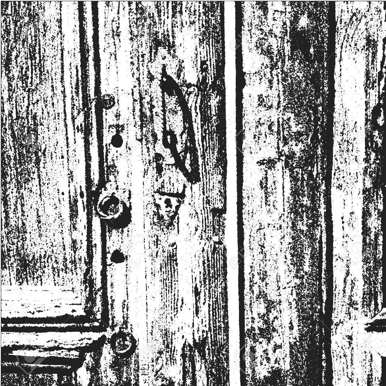 Vintage Tür distress grunge-hintergrund mit hölzernen alten vintage-tür. grunge