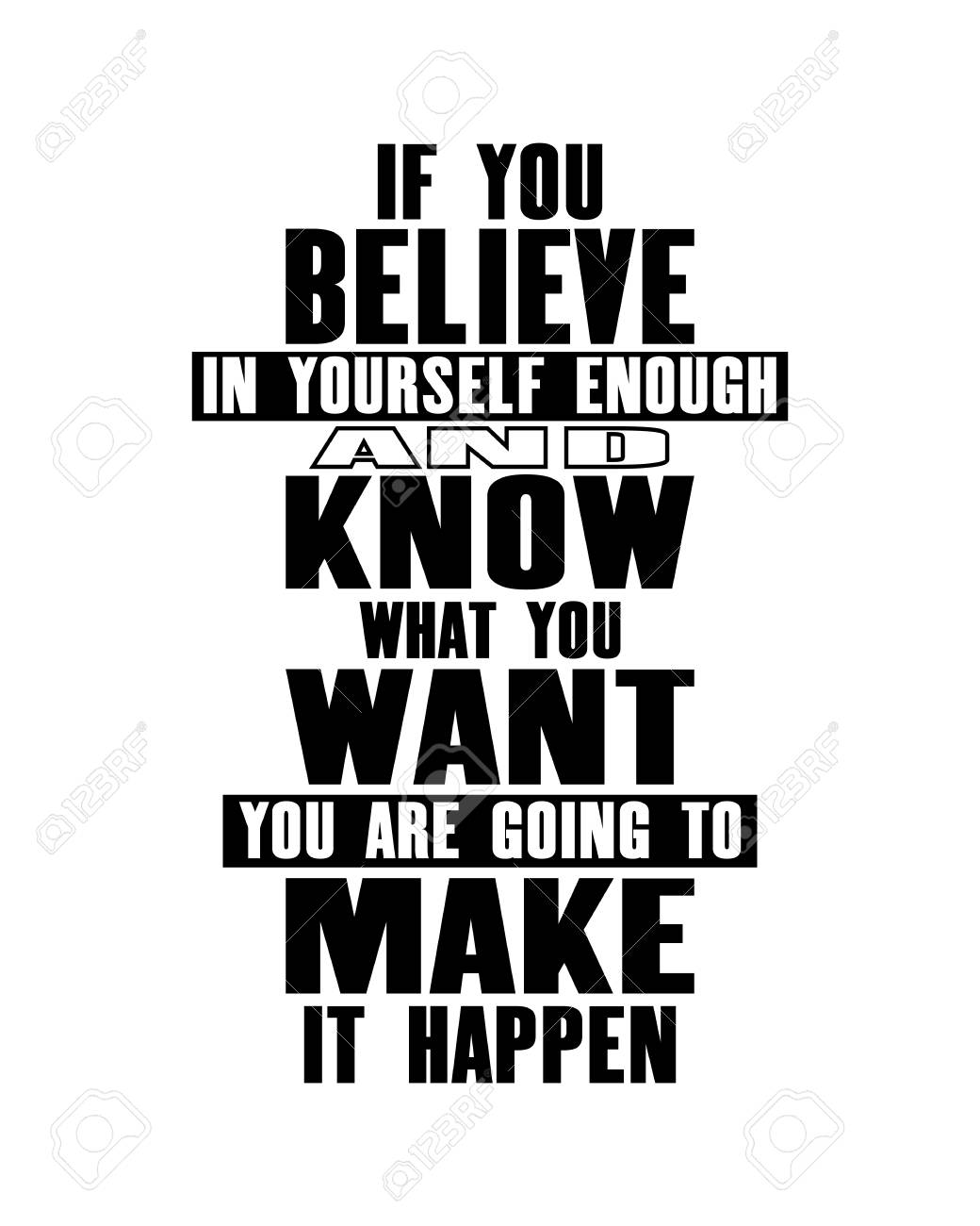 Inspiring Motivation Quote With Text If You Believe In Yourself Royalty Free Cliparts Vectors And Stock Illustration Image 103280045