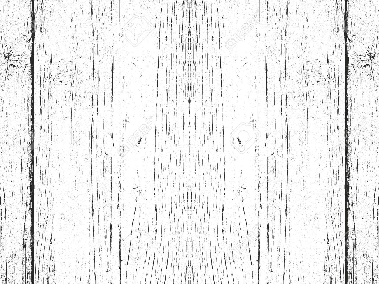Distressed overlay wooden plank texture, grunge background. abstract halftone vector illustration - 140101728