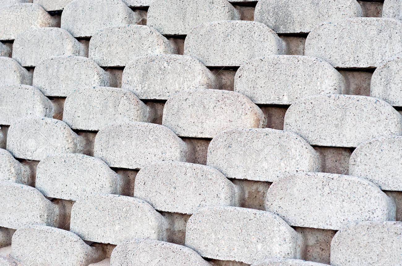 Close Up Muster Und Texturen Aus Gebogenen Verriegelung Beton ...