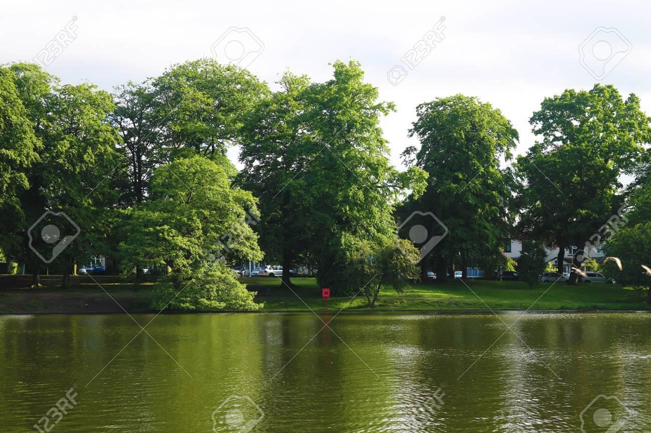 Birmingham kings heath swanshurst lake Stock Photo - 80080239