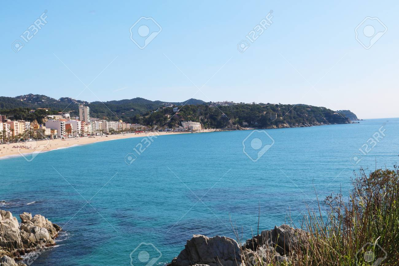 lloret de mar Spain coast Stock Photo - 80320647