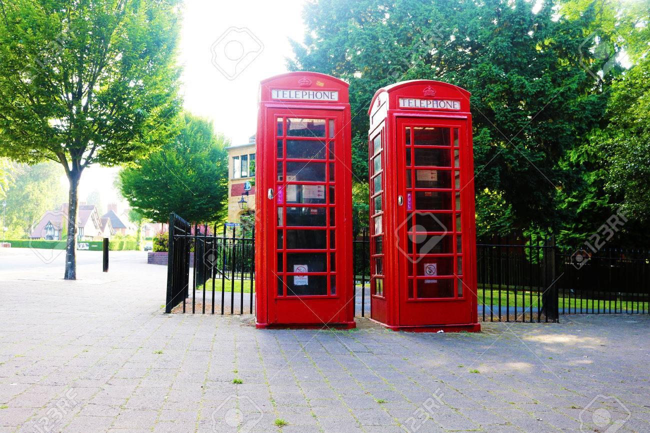 British telephone box Stock Photo - 80694082