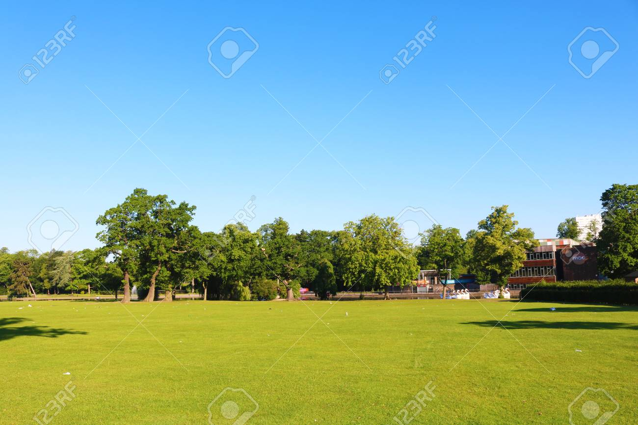 Birmingham park trees and field Stock Photo - 81488899