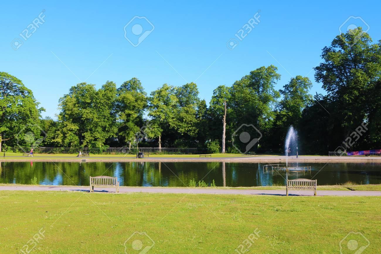 Cannon park lake view Stock Photo - 81405160