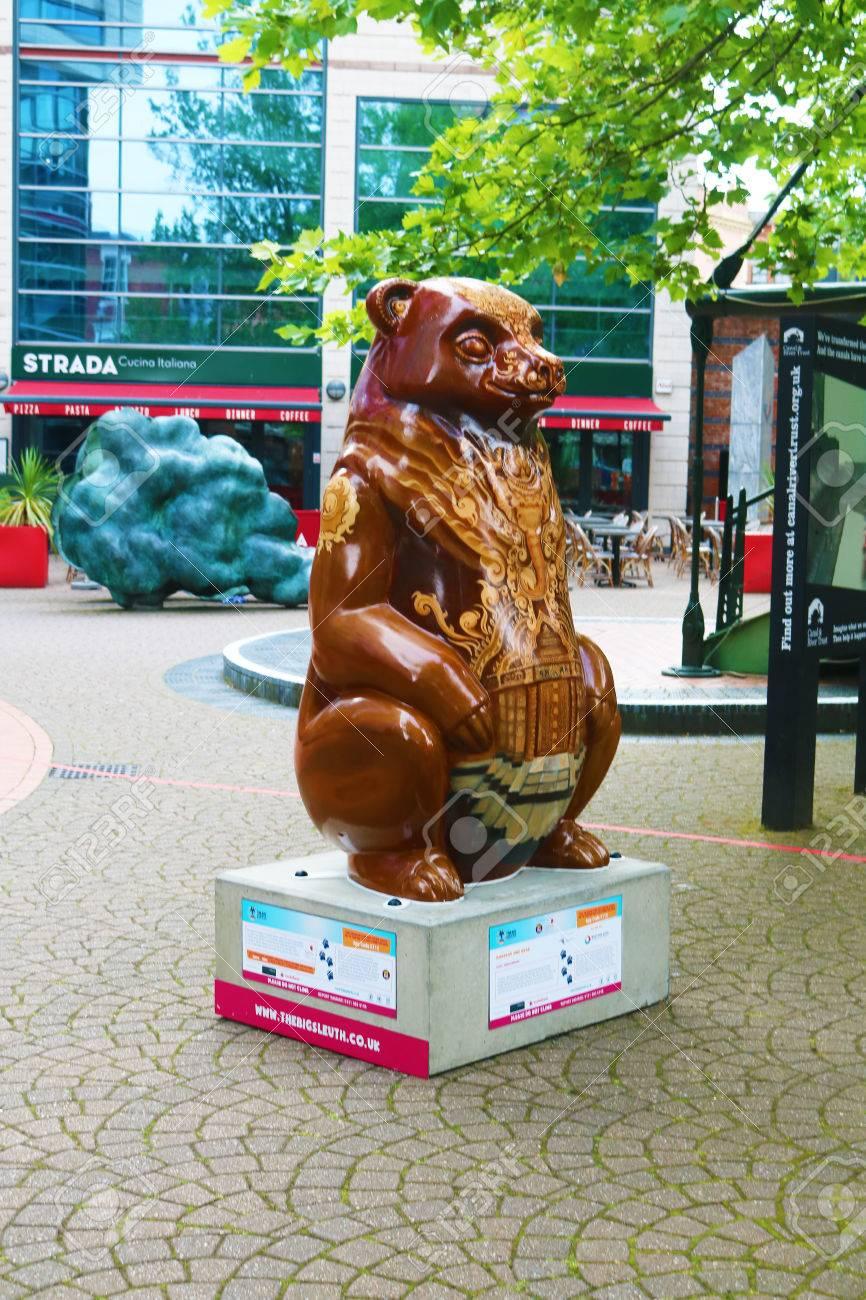 Big Sleuth bear Birmingham summer Stock Photo - 83377784