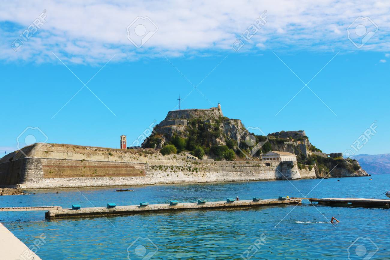 Corfu Greece fortress Stock Photo - 92383610