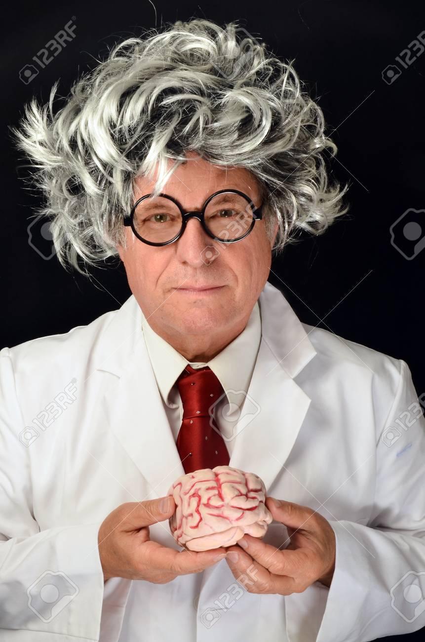 Scientist holding a  Brain Stock Photo - 14745537