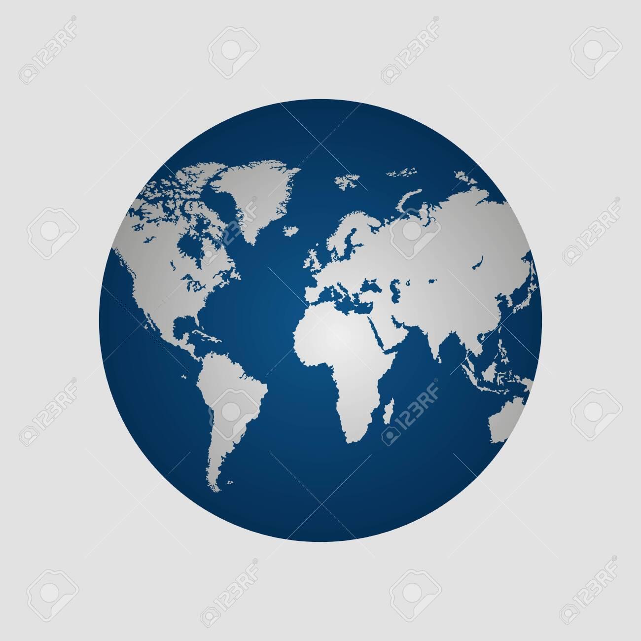 Earth globe vector illustration isolated - 143712649