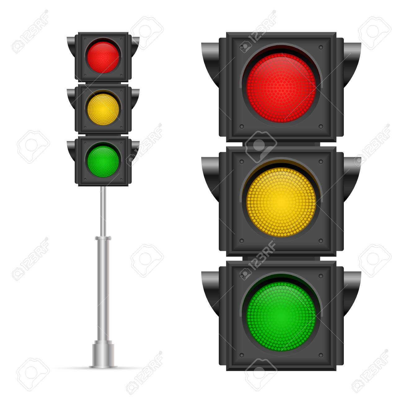 Traffic lights vector illustration isolated on white background - 143736363