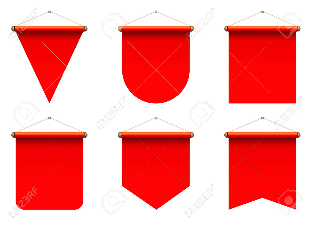 Set of realistic pennant vector illustration - 169550205