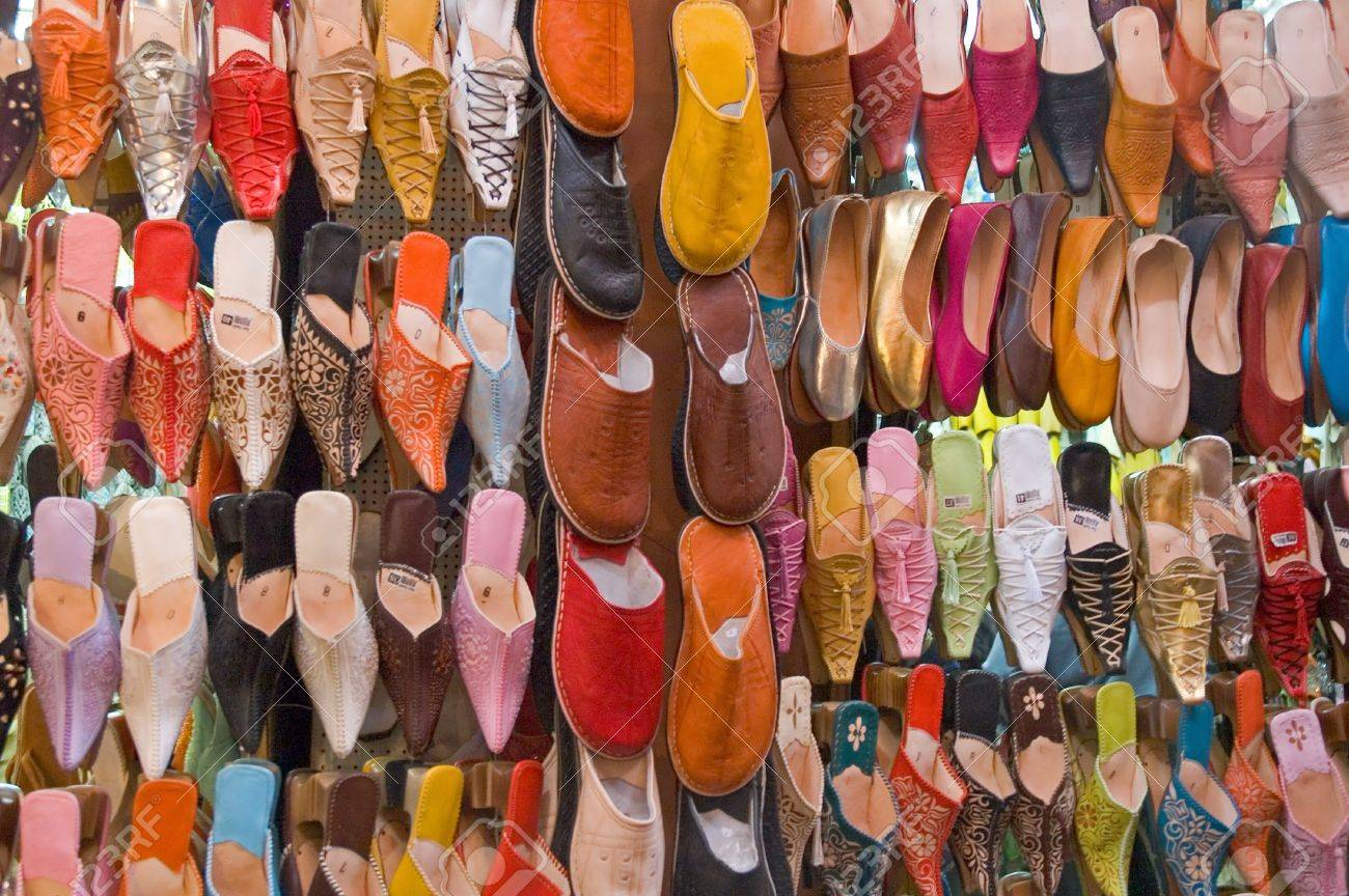 a83ca865d1b Moroccan shoes and sandal Stock Photo - 3295871