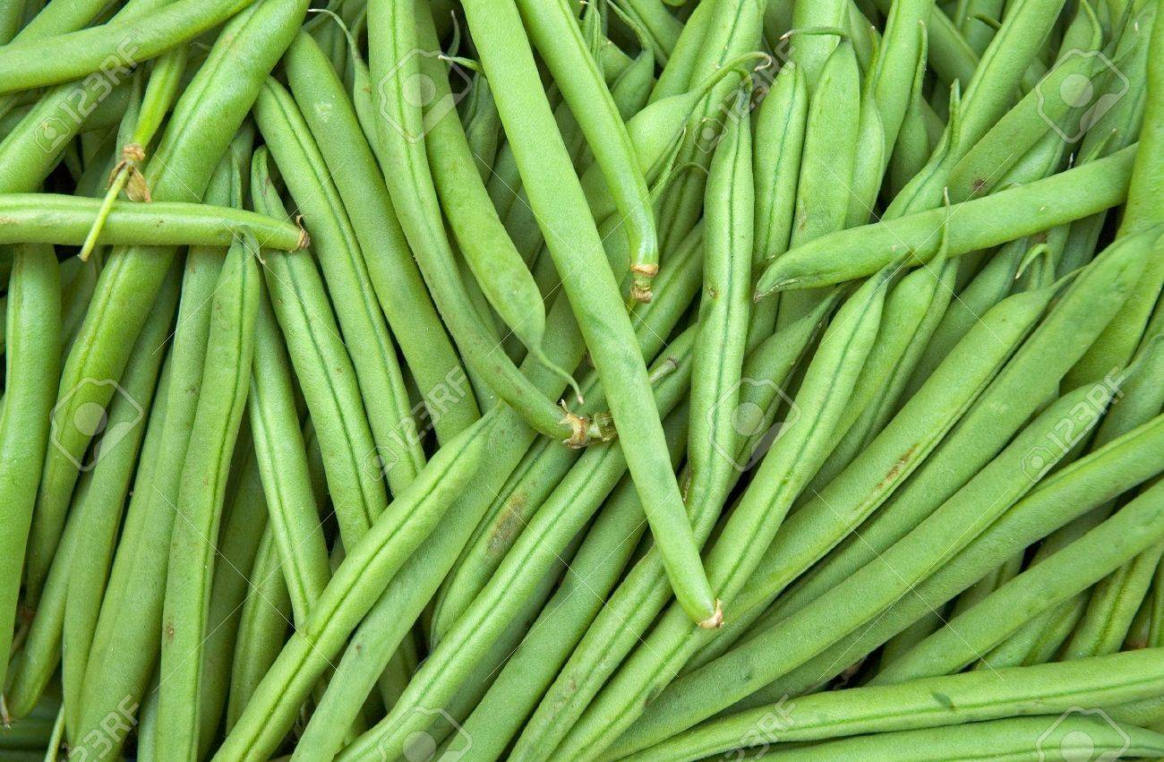 Fresh French Green Beans In Market Stock Photo - 4631633