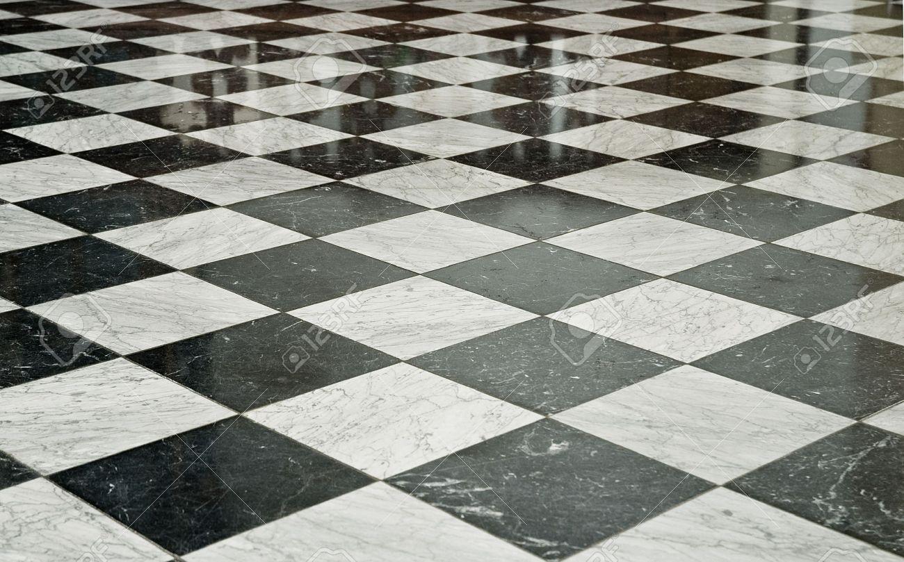 Black And White Marble Floor Stock Photo   5168020