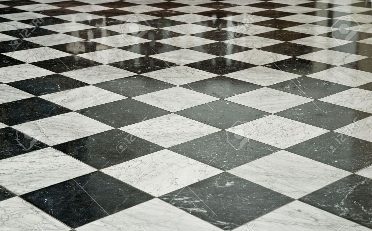 Marble Floor Part - 35: Black And White Marble Floor
