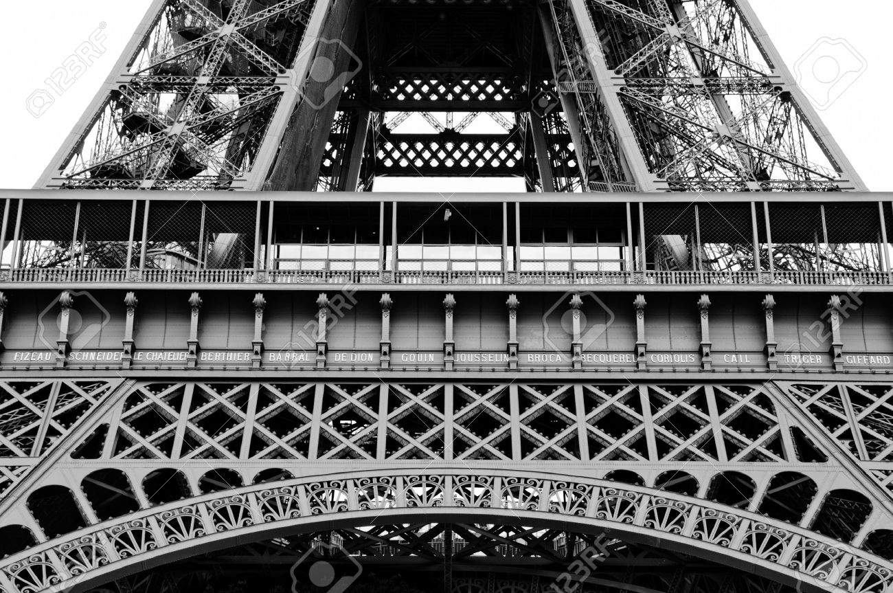 Close up of the Lower part of the eiffel tower arch Stock Photo - 9892973