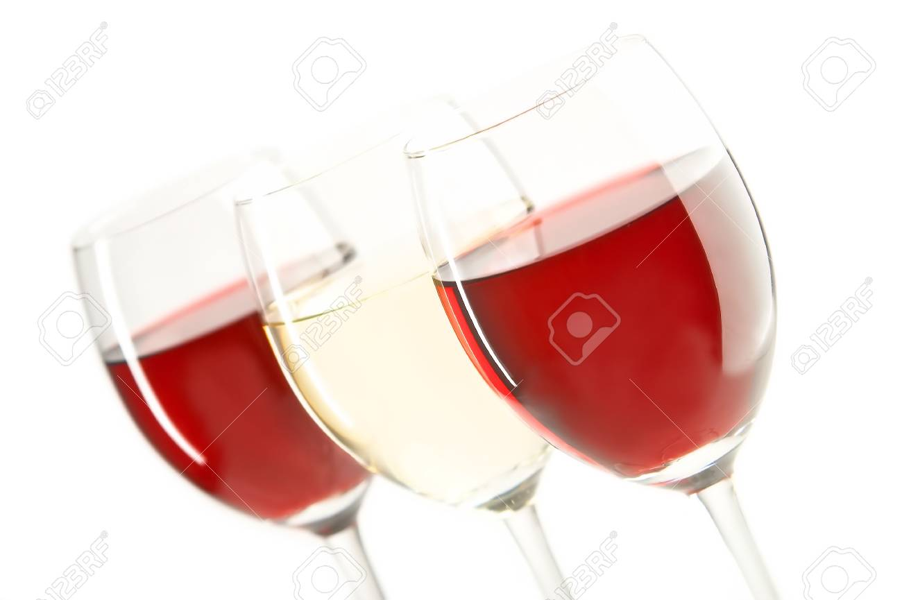 still life with red and white wines on the white background Stock Photo - 1666617