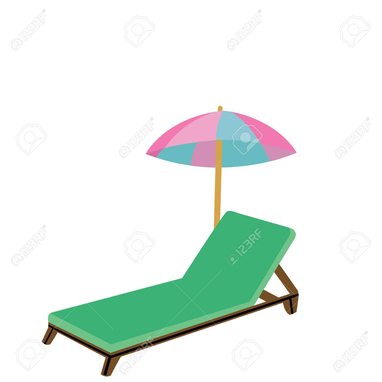 Cartoon Style Wooden Beach Chair For Relaxing Summer And Spring