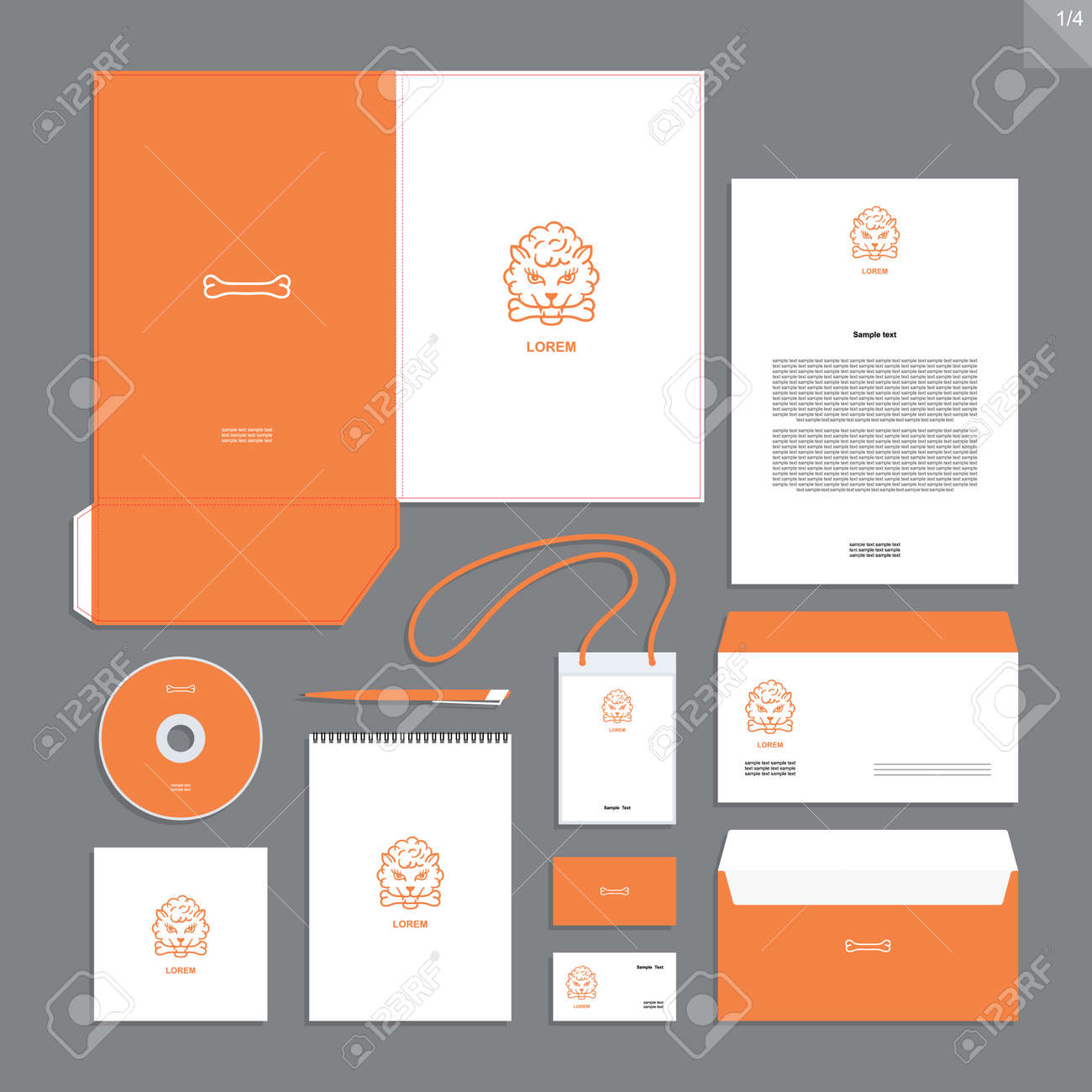 Abstract corporate identity with sign. Stationery set. Creative design. - 165549778