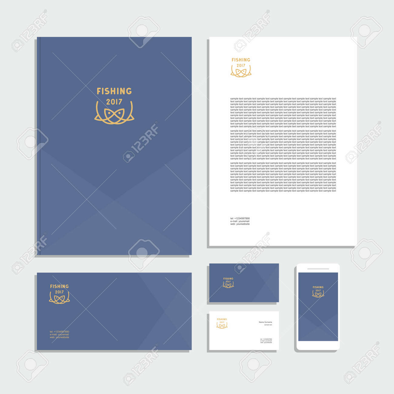 Abstract corporate identity with sign. Stationery set. Creative design. - 168167561
