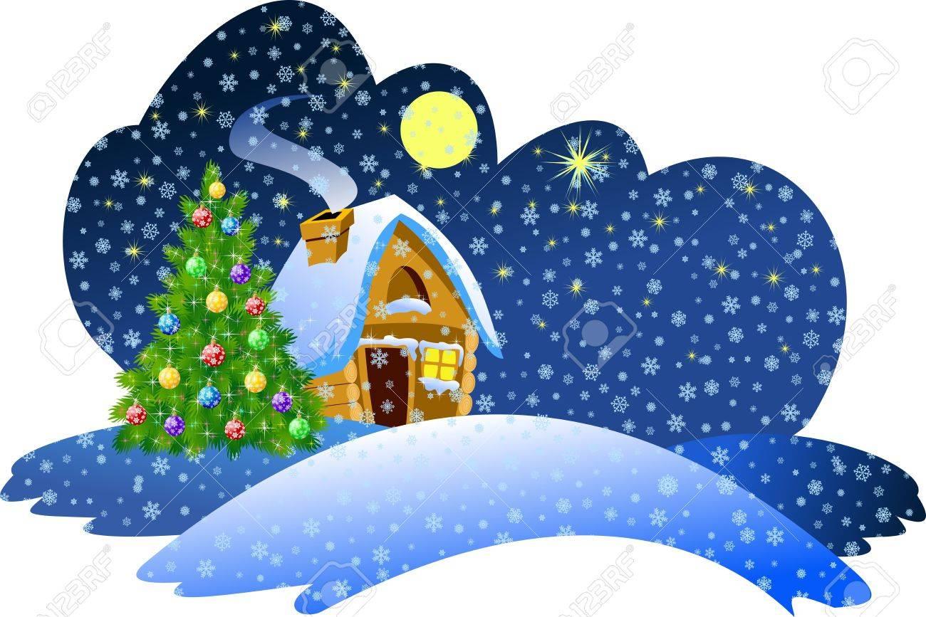 Christmas night scene Stock Photo - 2118582