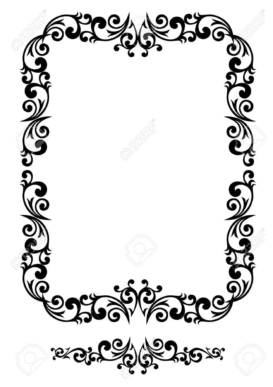 Decorative floral frame with elements Stock Vector - 2118566