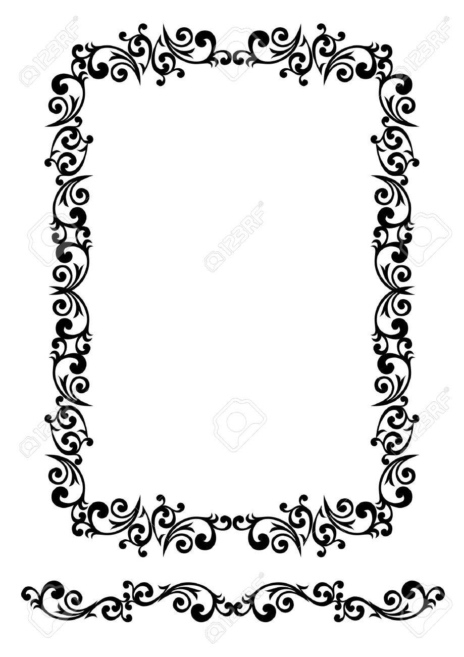 Decorative floral frame with elements Stock Vector - 2118569
