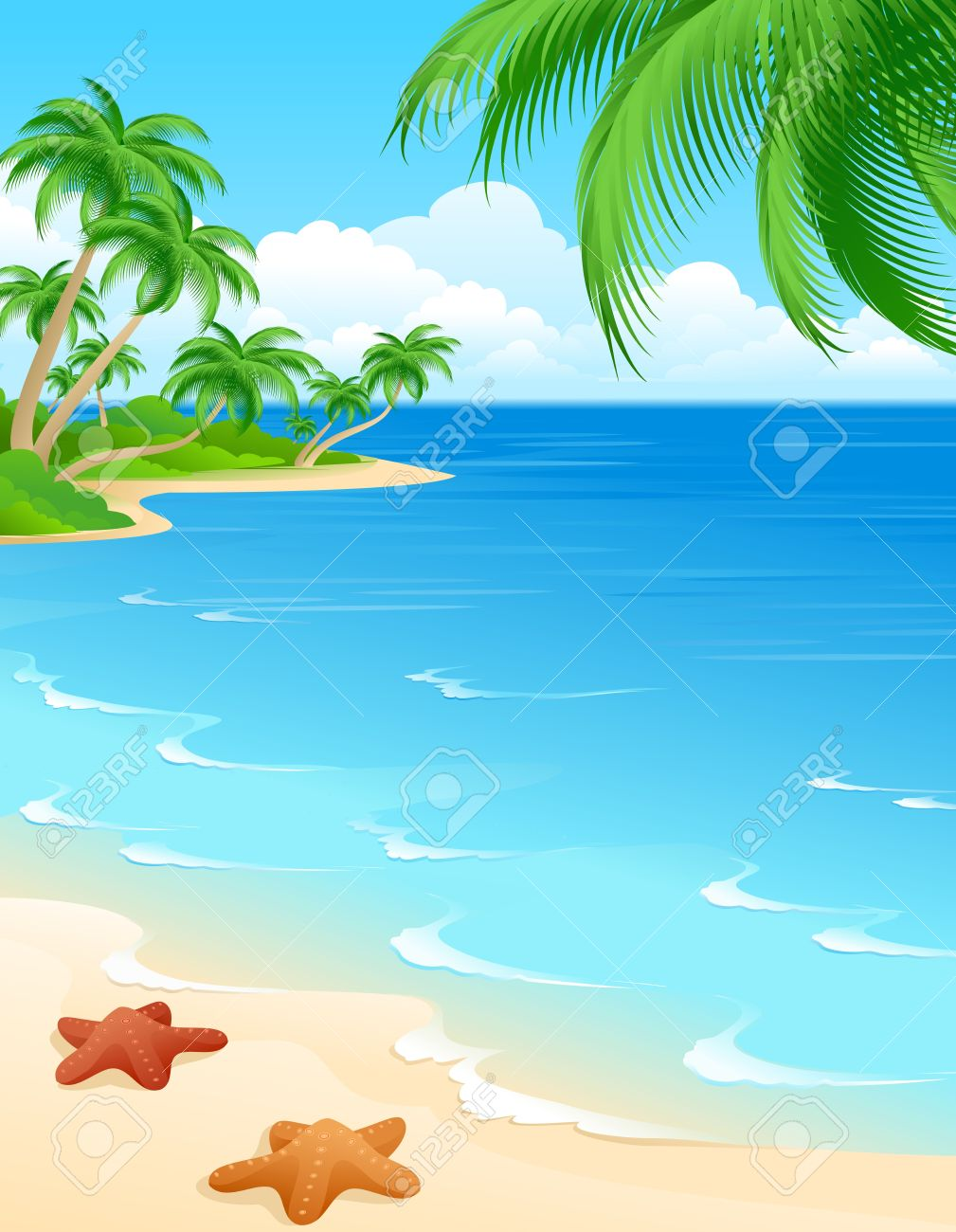 tropical beach scene stock photo picture and royalty free image rh 123rf com tropical beach background clipart tropical beach clip art free