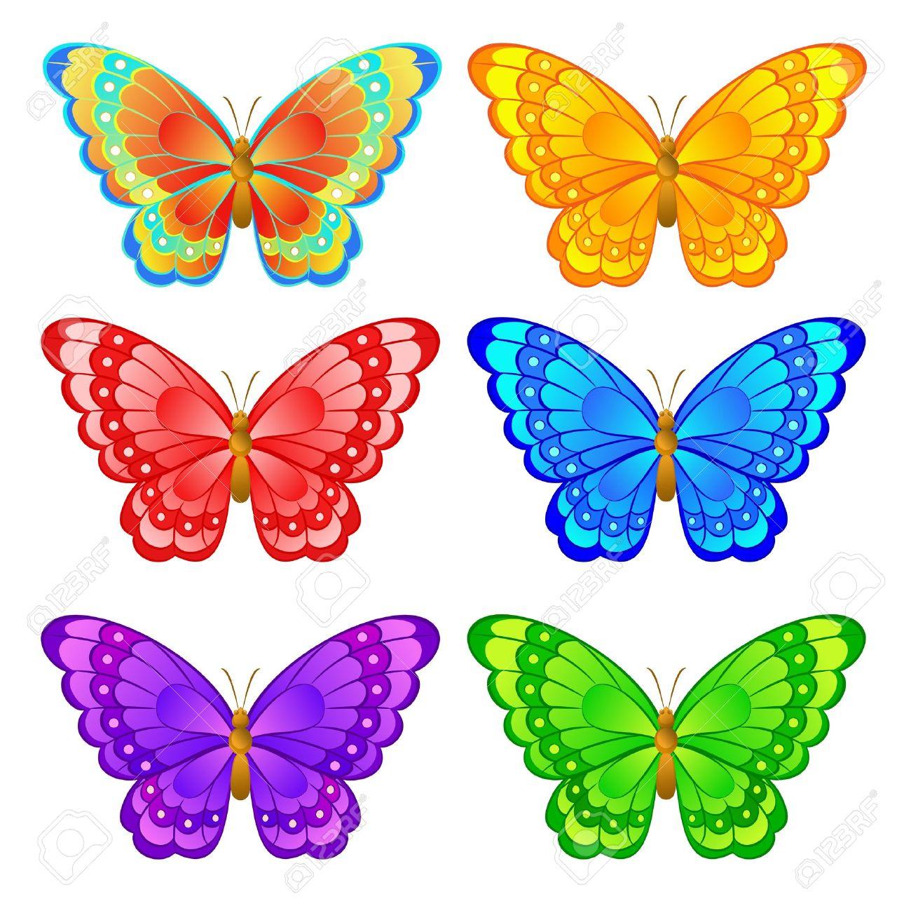 butterfly ilustraciones vectoriales clip art vectorizado libre de
