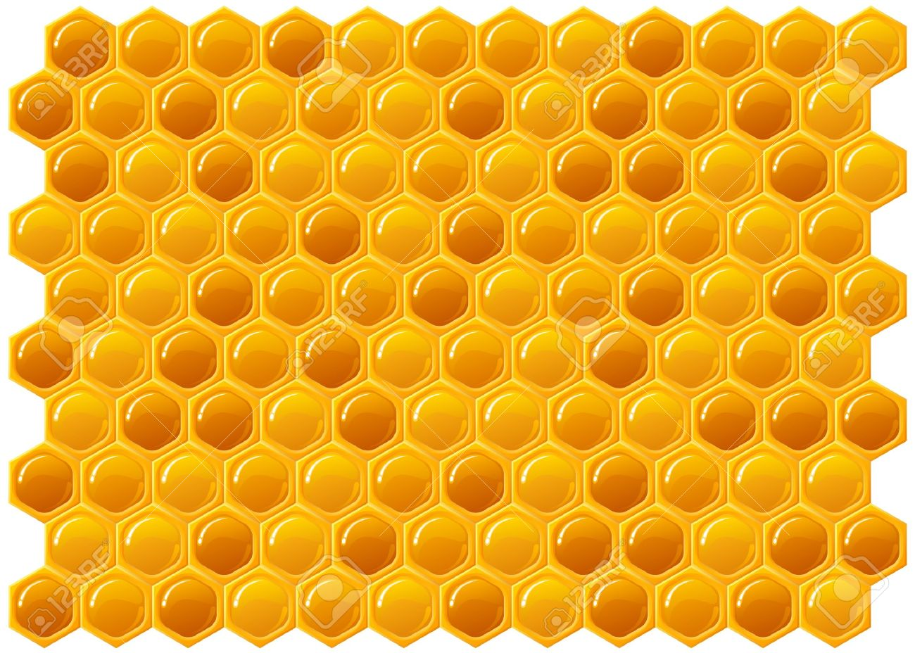Honeycomb Texture Background Stock Vector