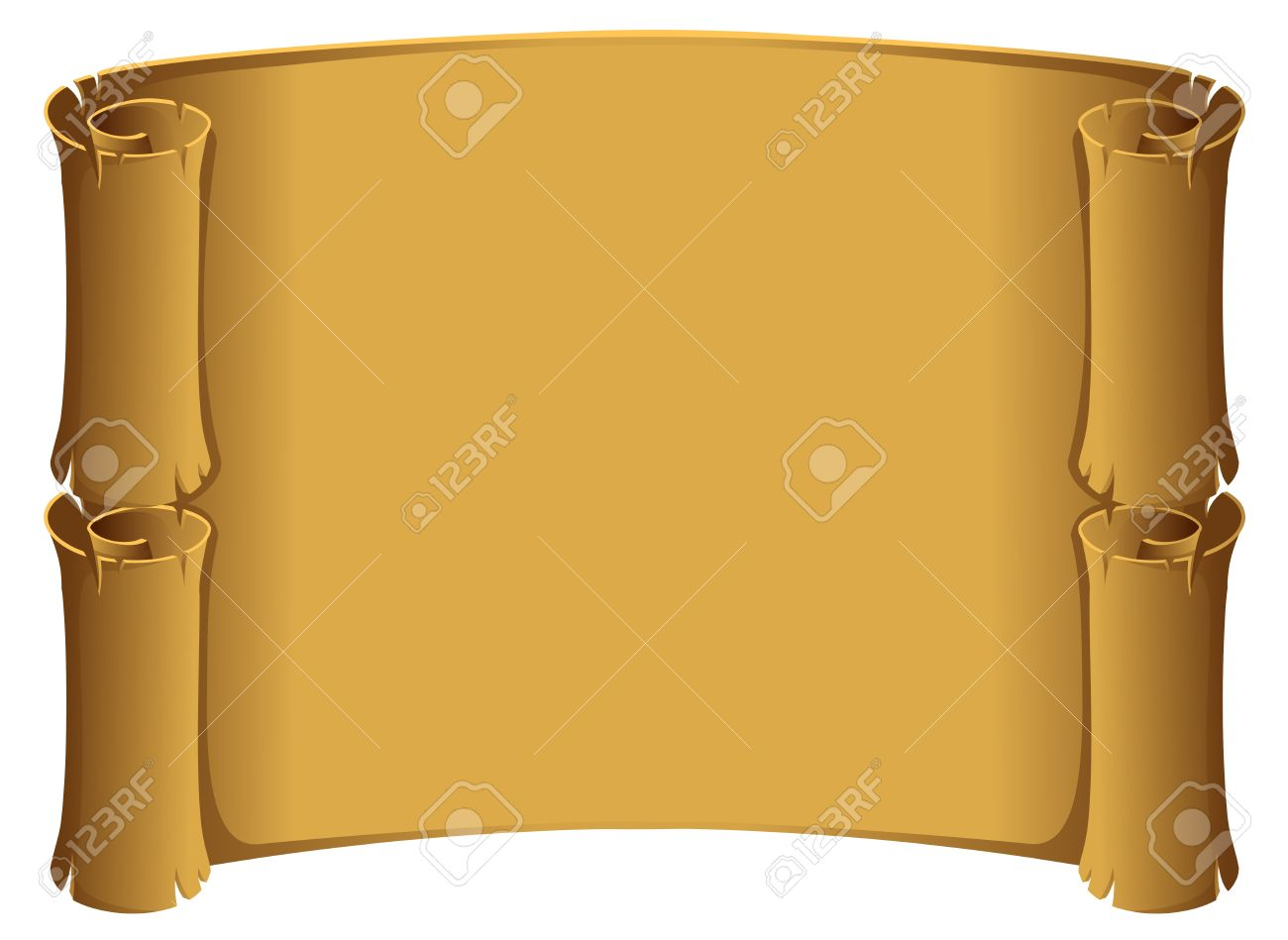 old parchment scroll background Stock Vector - 3587549
