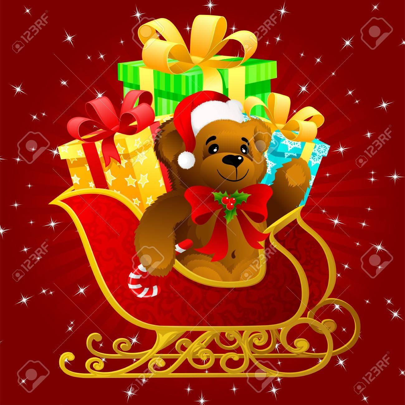 Santa Claus sleigh Stock Vector - 3709121