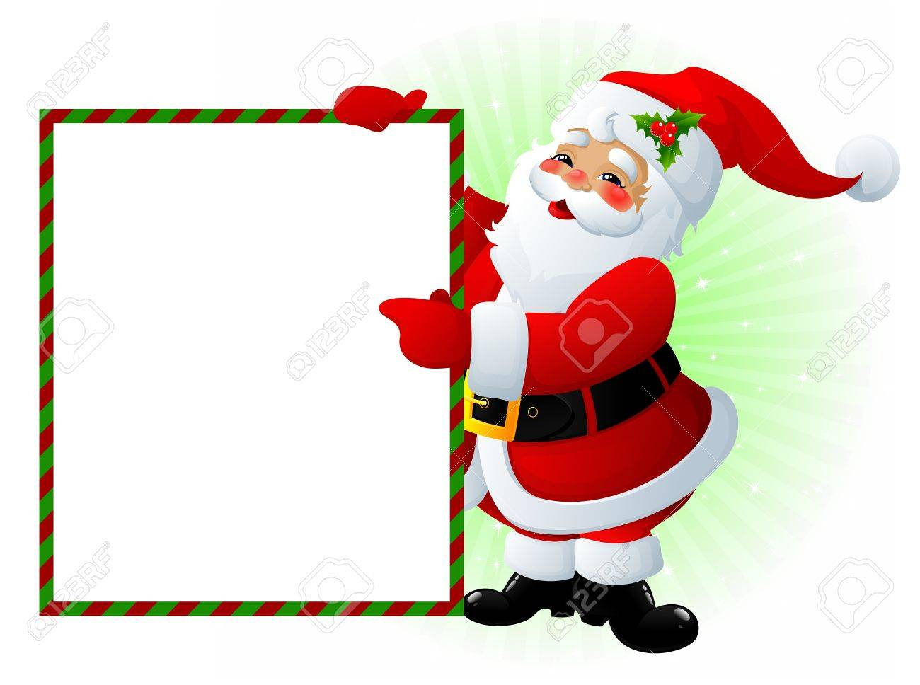 Santa Claus with message board Stock Photo - 3730304