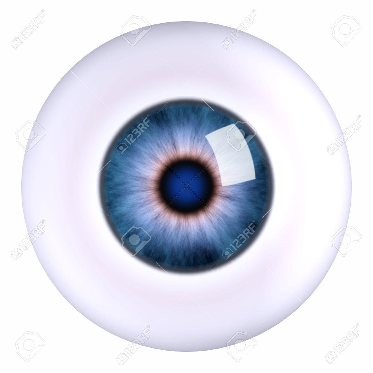3d model eyeball blue, isolated Stock Photo - 3102022