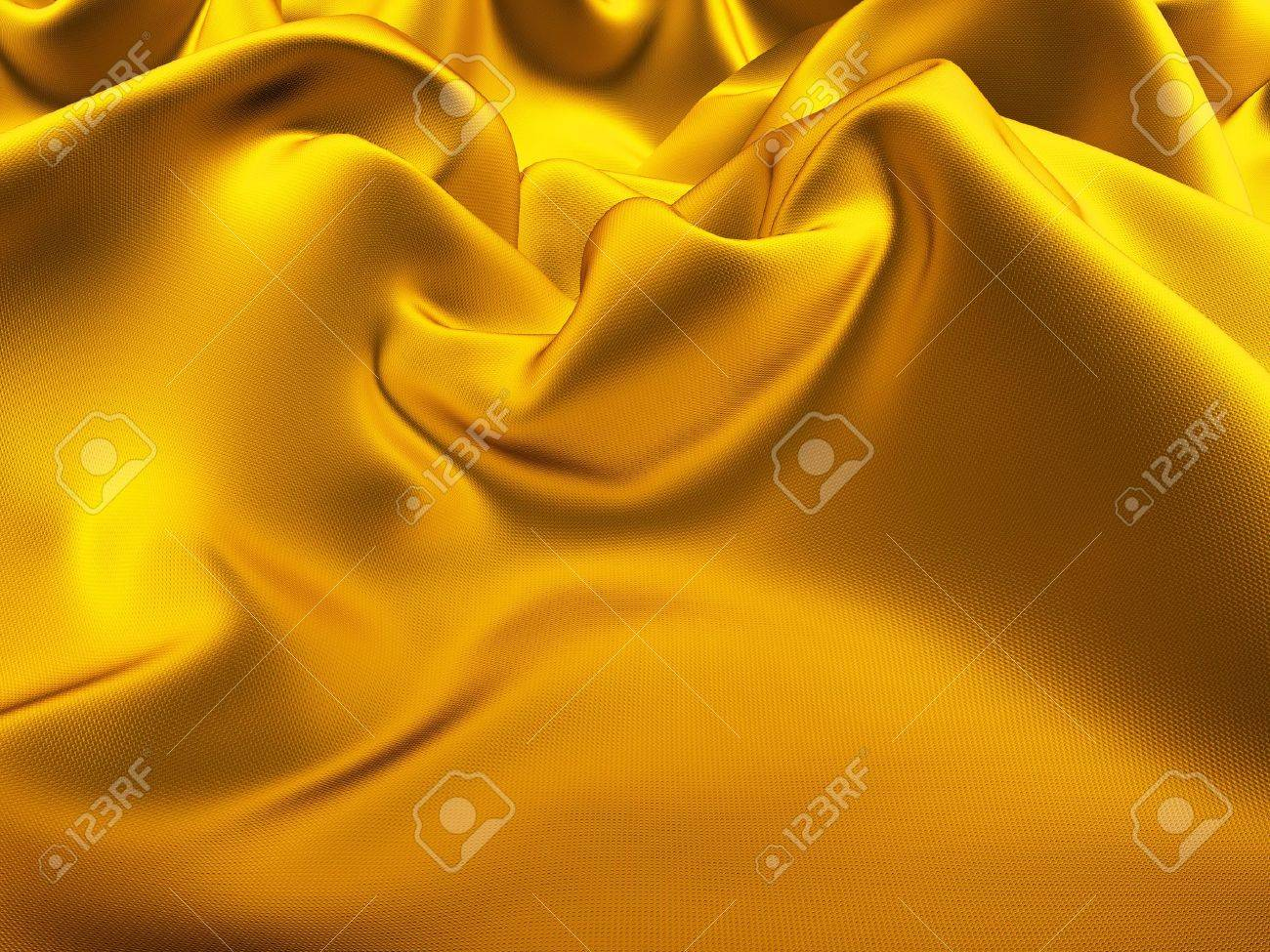 drape gold silk with crease Stock Photo - 3104898