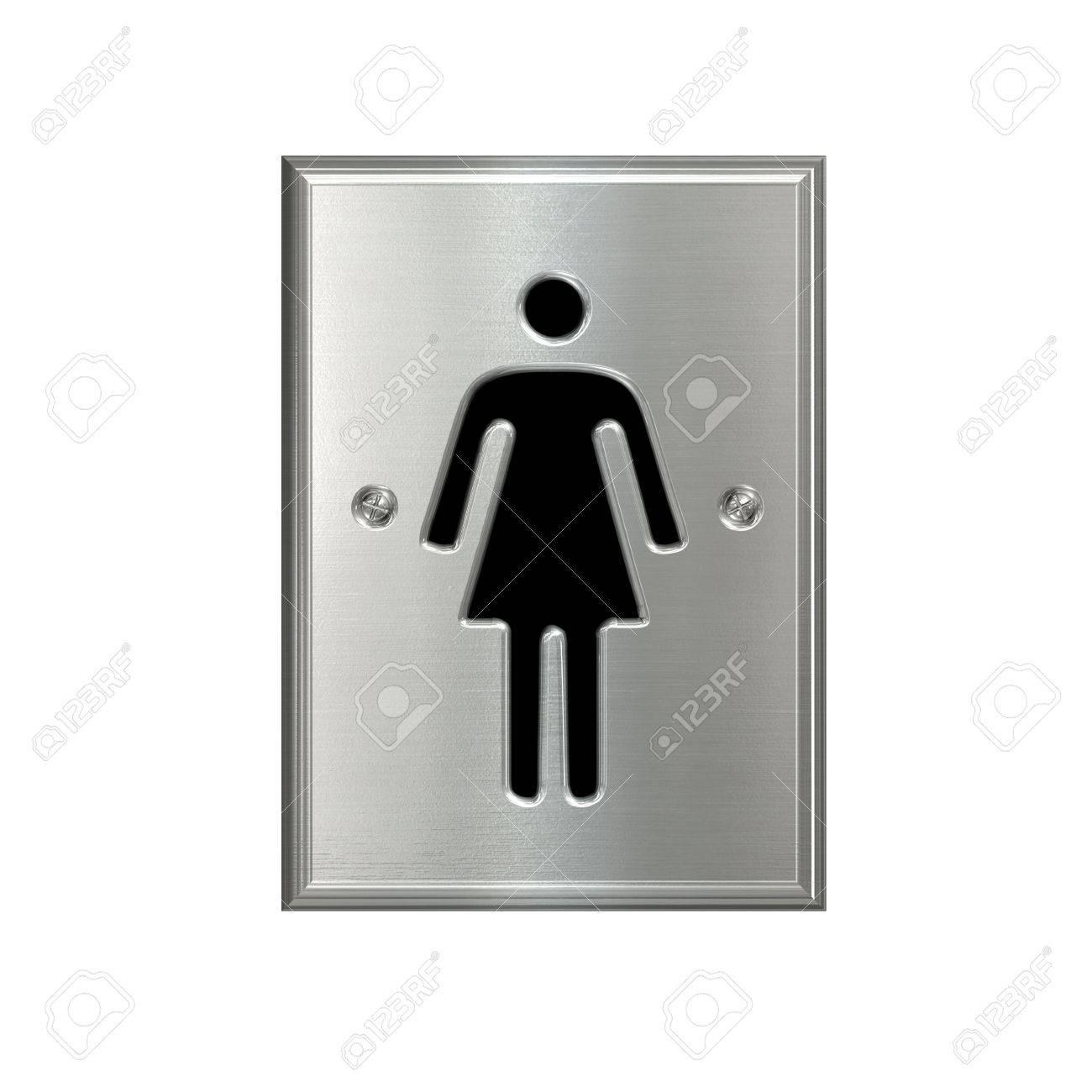 Symbole De Toilette Femme Rectangle Isolé Banque Dimages Et Photos