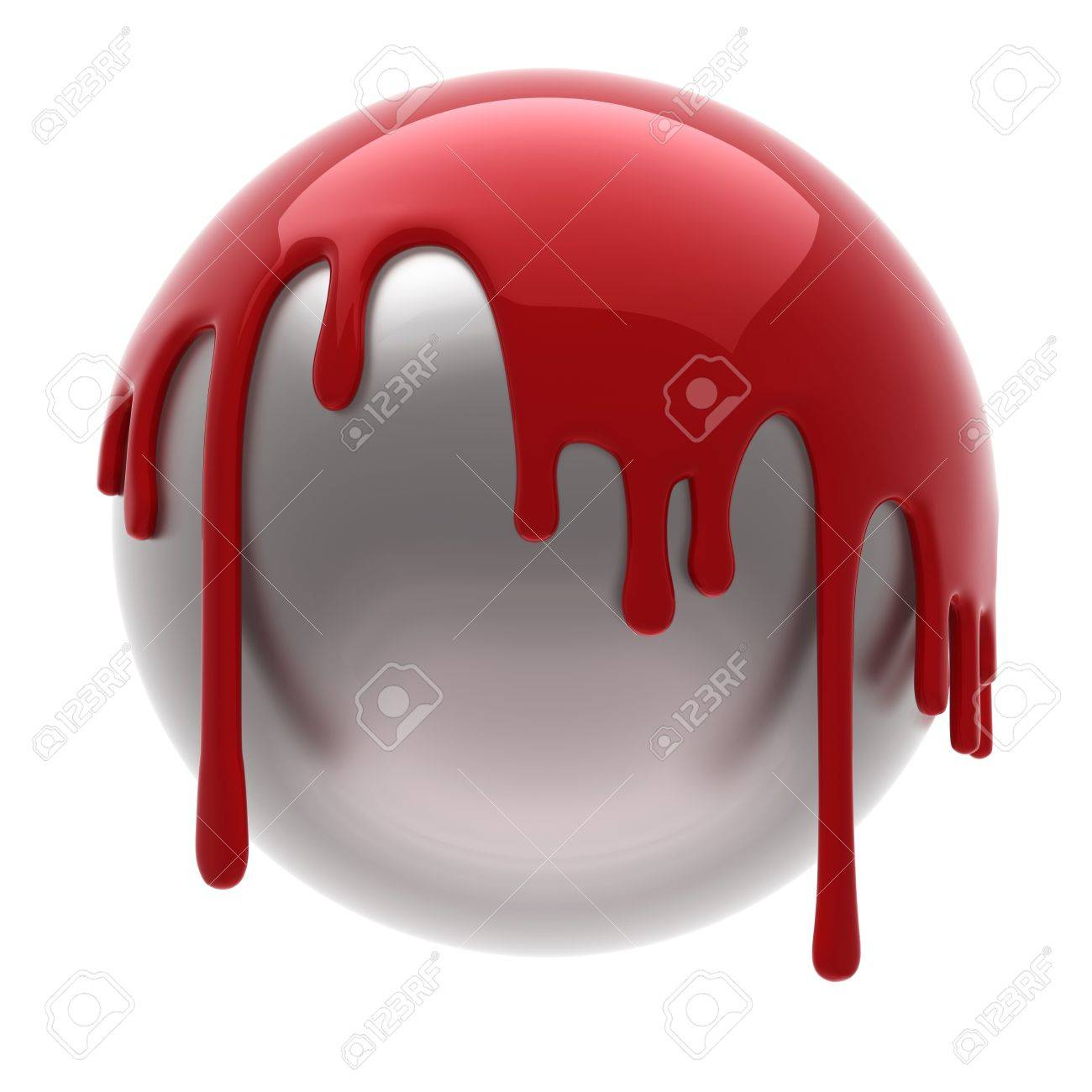 red poured steel ball isolated Stock Photo - 3439030