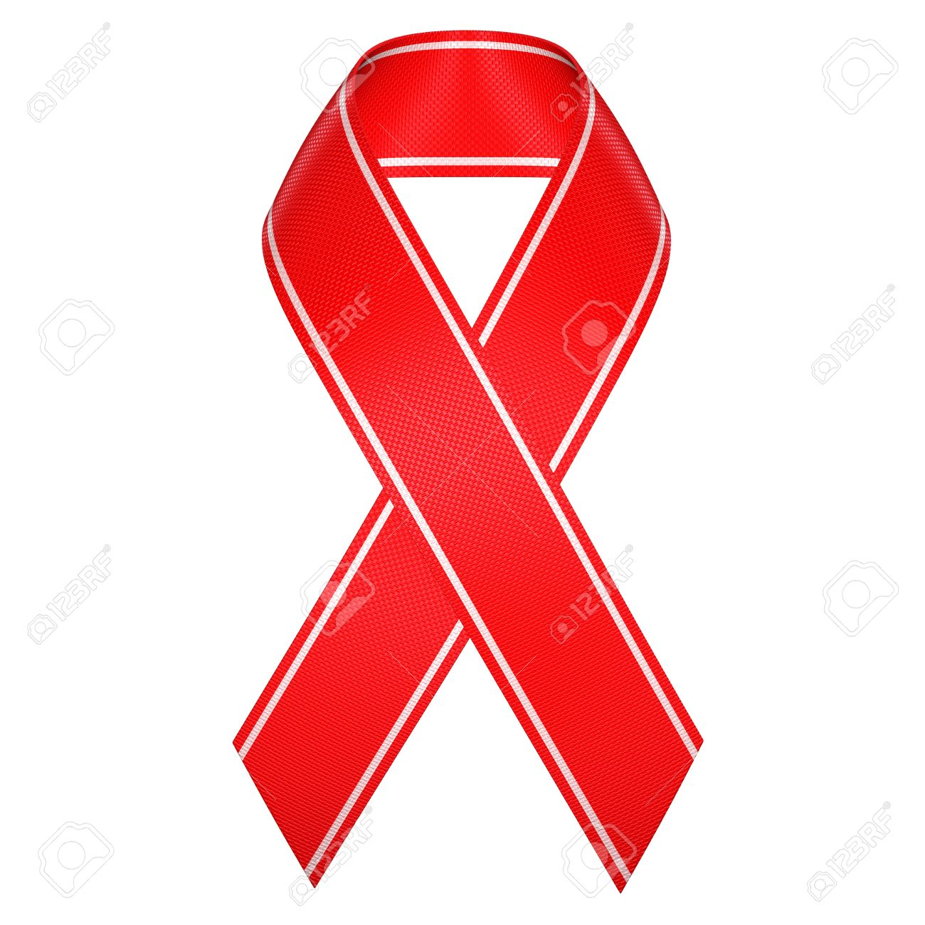 Aids Red Ribbon Symbol Isolated Stock Photo Picture And Royalty