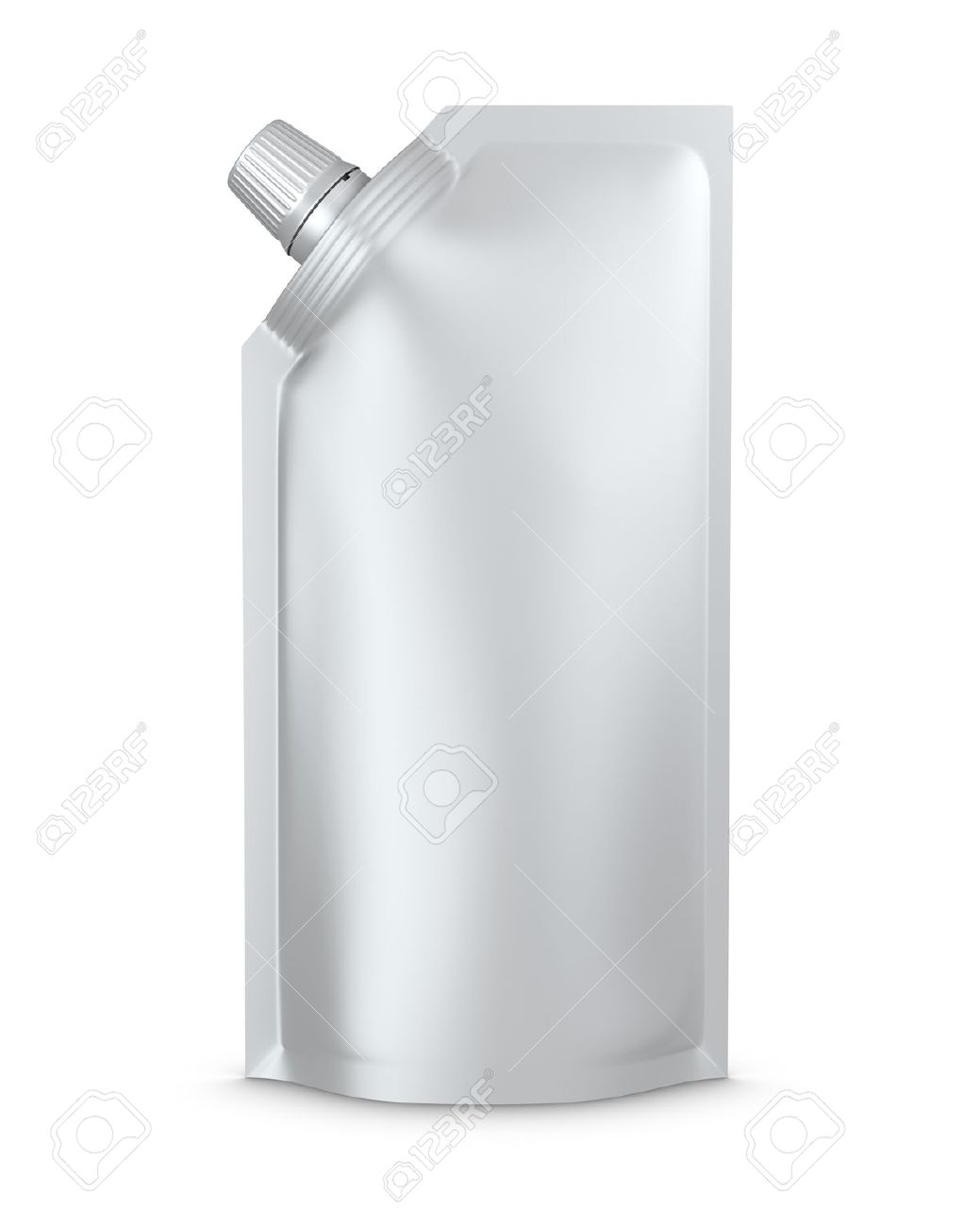 stand-up spout pouch with cap isolated Stock Photo - 7624803