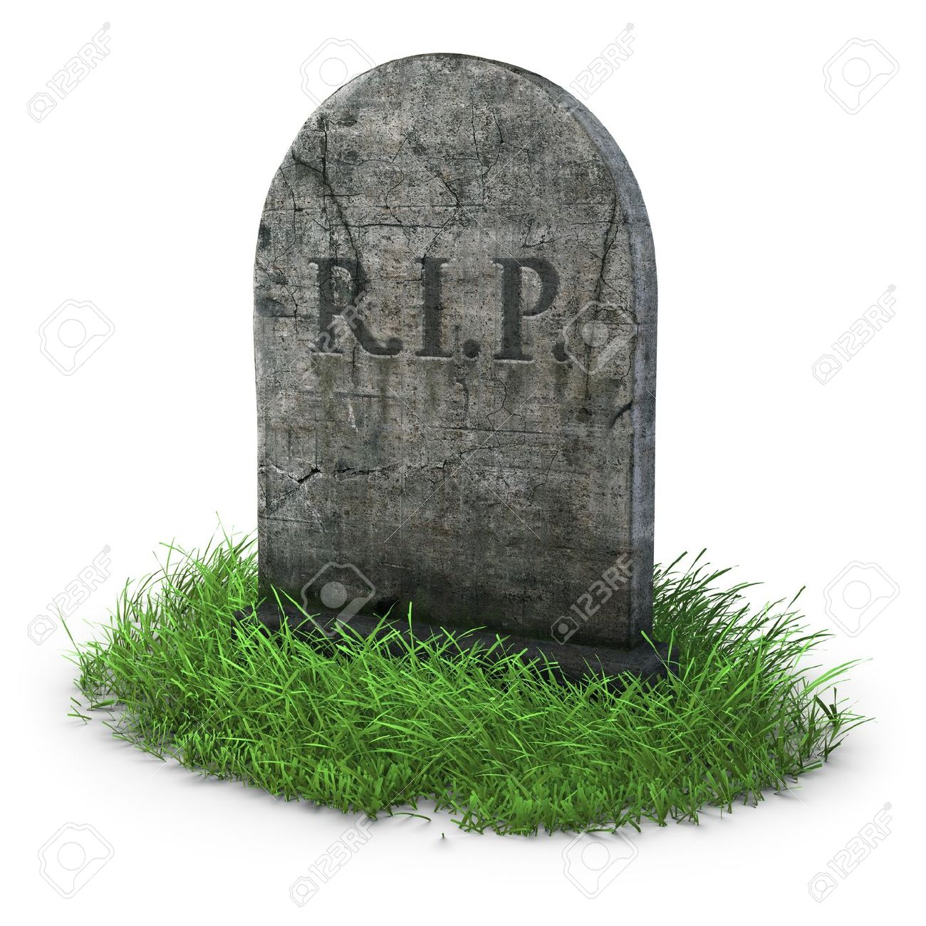 gravestone with grass on white background stock photo picture and