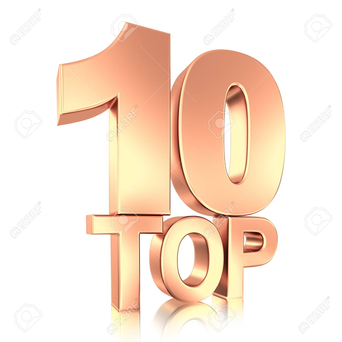 top ten gold title isolated Stock Photo - 7624838