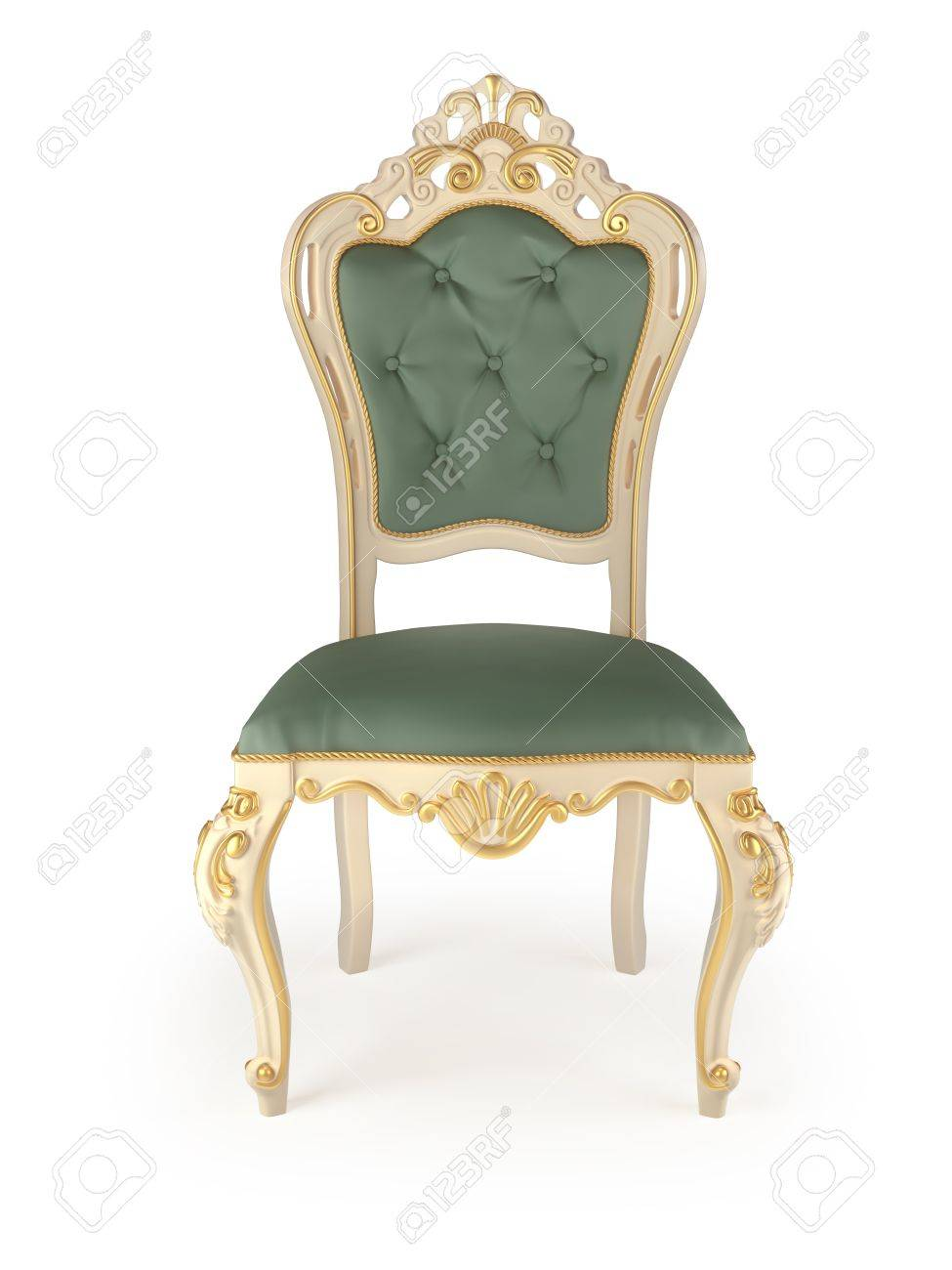 classic chair isolated on white Stock Photo - 9553445