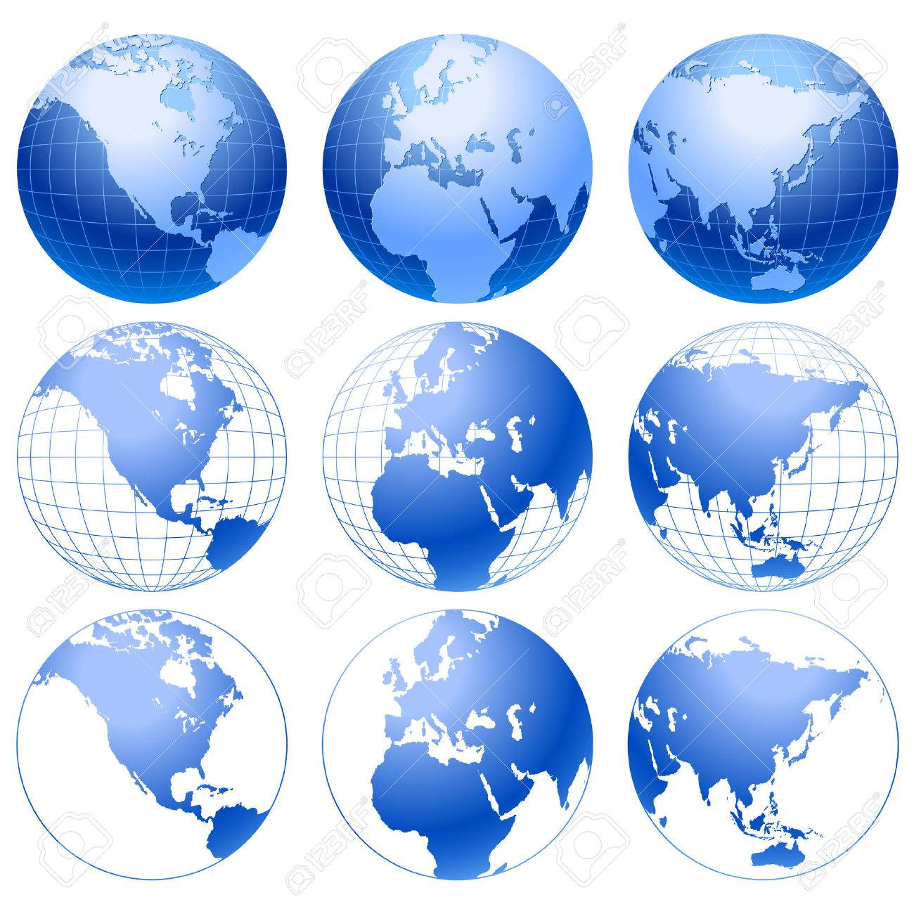 Globe icons. Stock Vector - 6423582