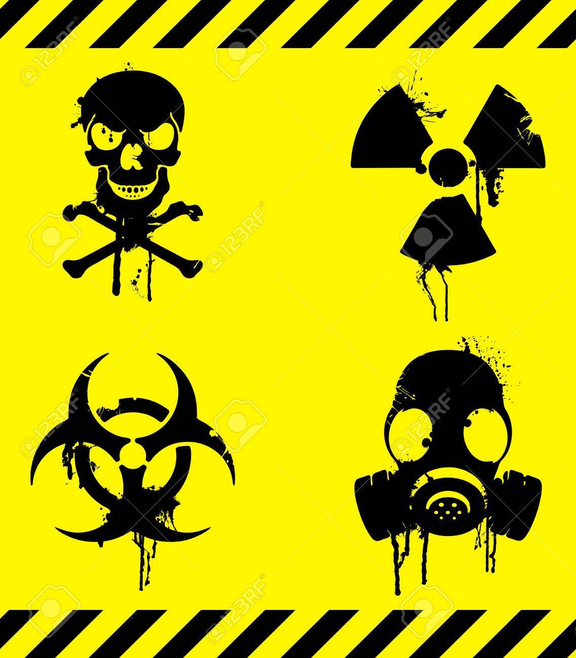 Gas Mask Warning Sign Gas Mask Warning Signs